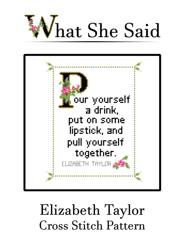 Elizabeth Taylor Cross Stitch Pattern