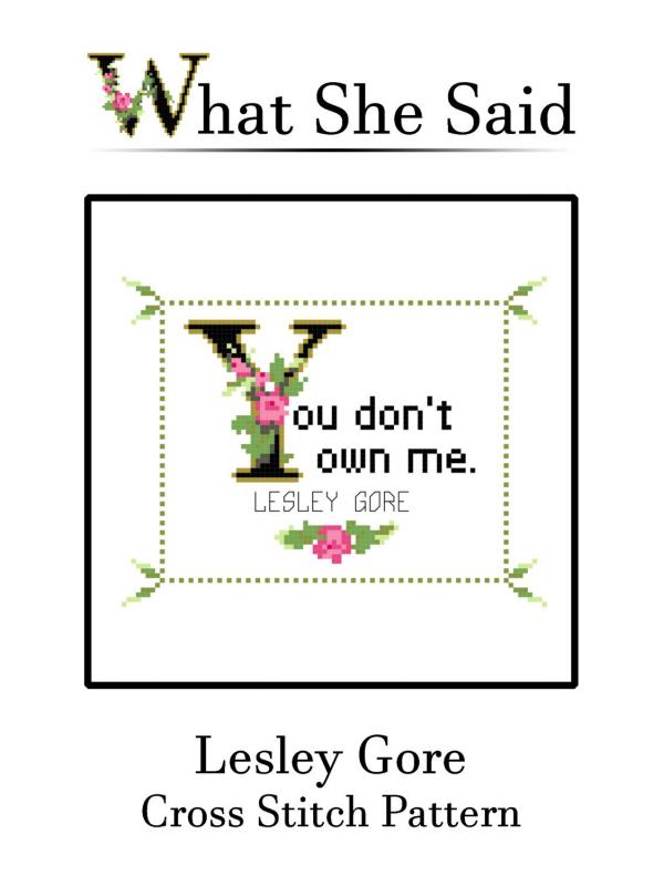 Lesley Gore Cross Stitch Pattern