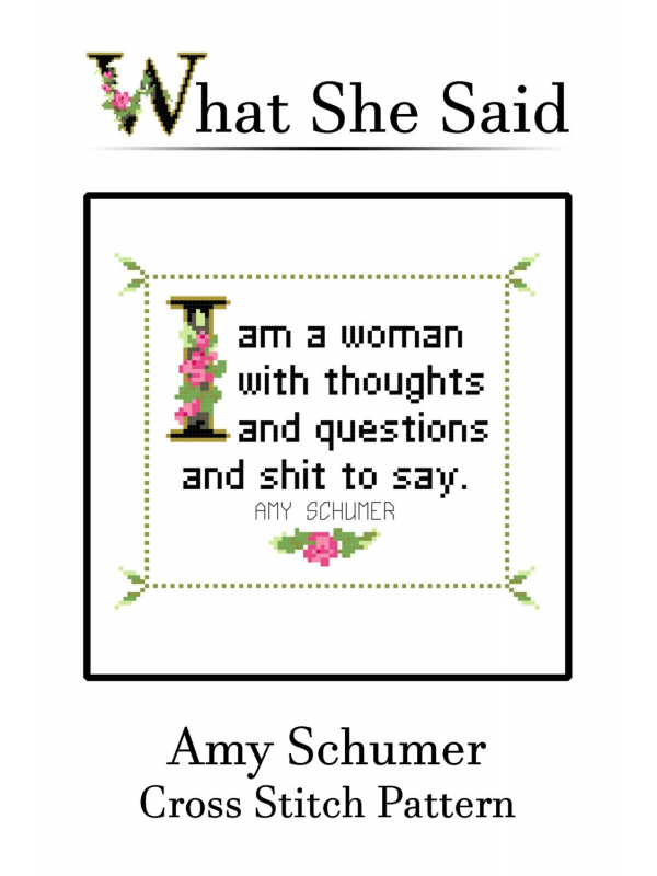Amy Schumer Cross Stitch Pattern