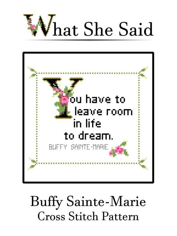 Buffy Sainte-Marie Cross Stitch Pattern