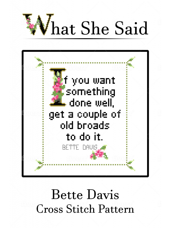 Bette Davis Cross Stitch Chart