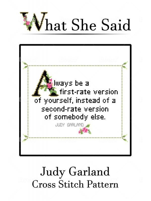 Judy Garland Cross Stitch Chart