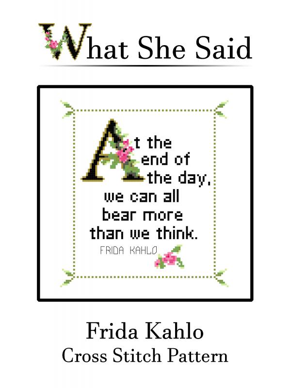 Frida Kahlo Cross Stitch #3