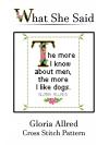 Gloria Allred Cross Stitch Pattern