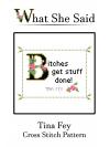 Tina Fey Cross Stitch Pattern