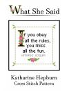 Katharine Hepburn Cross Stitch Pattern