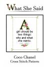 Coco Chanel Cross Stitch Pattern No. 1