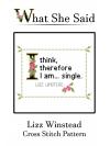 Lizz Winstead Cross Stitch Pattern