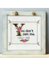 Lesley Gore Quote Cross Stitch Pattern