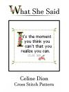 Celine Dion Cross Stitch Pattern