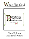 Nora Ephron Cross Stitch Pattern