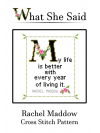 Rachel Maddow Cross Stitch Pattern