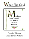 Carrie Fisher Cross Stitch Pattern No. 1