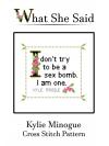 Kylie Minogue Cross Stitch Pattern