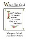Margaret Mead Cross Stitch Pattern