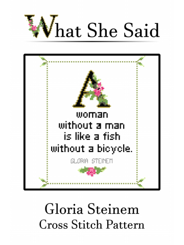 Gloria Steinem Cross Stitch Pattern