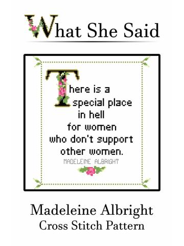 Madeleine Albright Cross Stitch Pattern