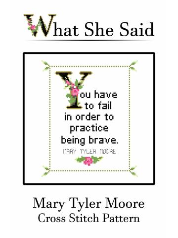 Mary Tyler Moore Cross Stitch Pattern