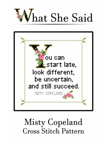 Misty Copeland Cross Stitch Pattern