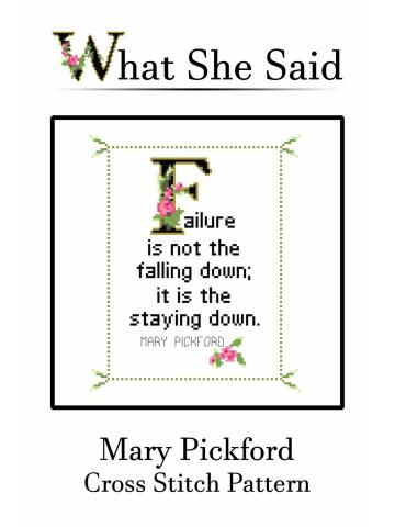 Mary Pickford Cross Stitch
