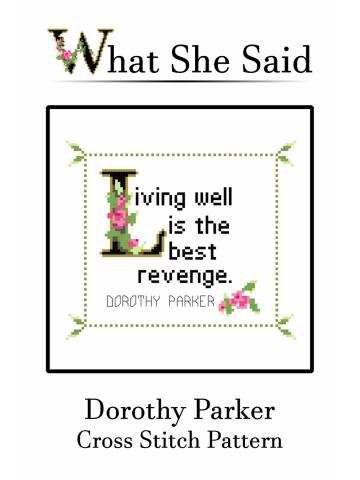 Dorothy Parker Cross Stitch Pattern