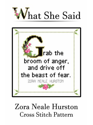 Zora Neale Hurston Cross Stitch Pattern
