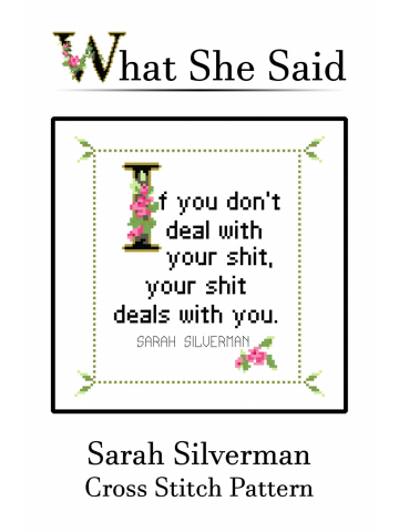 Sarah Silverman Cross Stitch Pattern