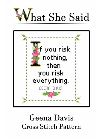 Geena Davis Cross Stitch Pattern