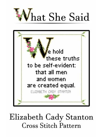 Elizabeth Cady Stanton Cross Stitch Pattern