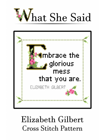 Elizabeth Gilbert Cross Stitch Pattern