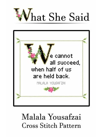 Malala Yousafzai Cross Stitch Pattern: