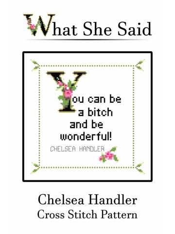 Chelsea Handler Cross Stitch Pattern