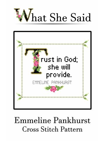 Emmeline Pankhurst Cross Stitch Pattern