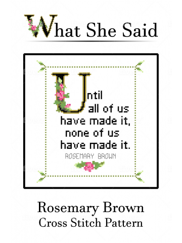 Rosemary Brown Quote Chart