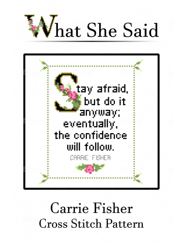 Carrie Fisher Cross Stitch Chart No. 2