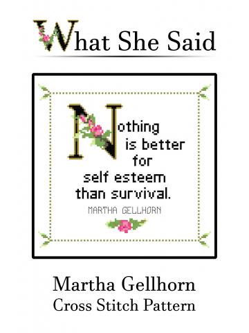 Martha Gellhorn Cross Stitch Pattern