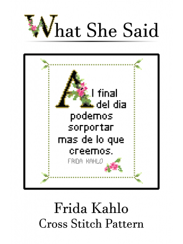 Frida Kahlo Cross Stitch Chart