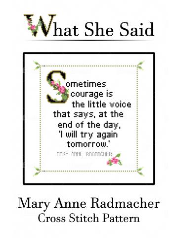 Mary Anne Radmacher Cross Stitch Chart