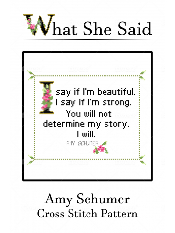 Amy Schumer Cross Stitch Chart No. 2