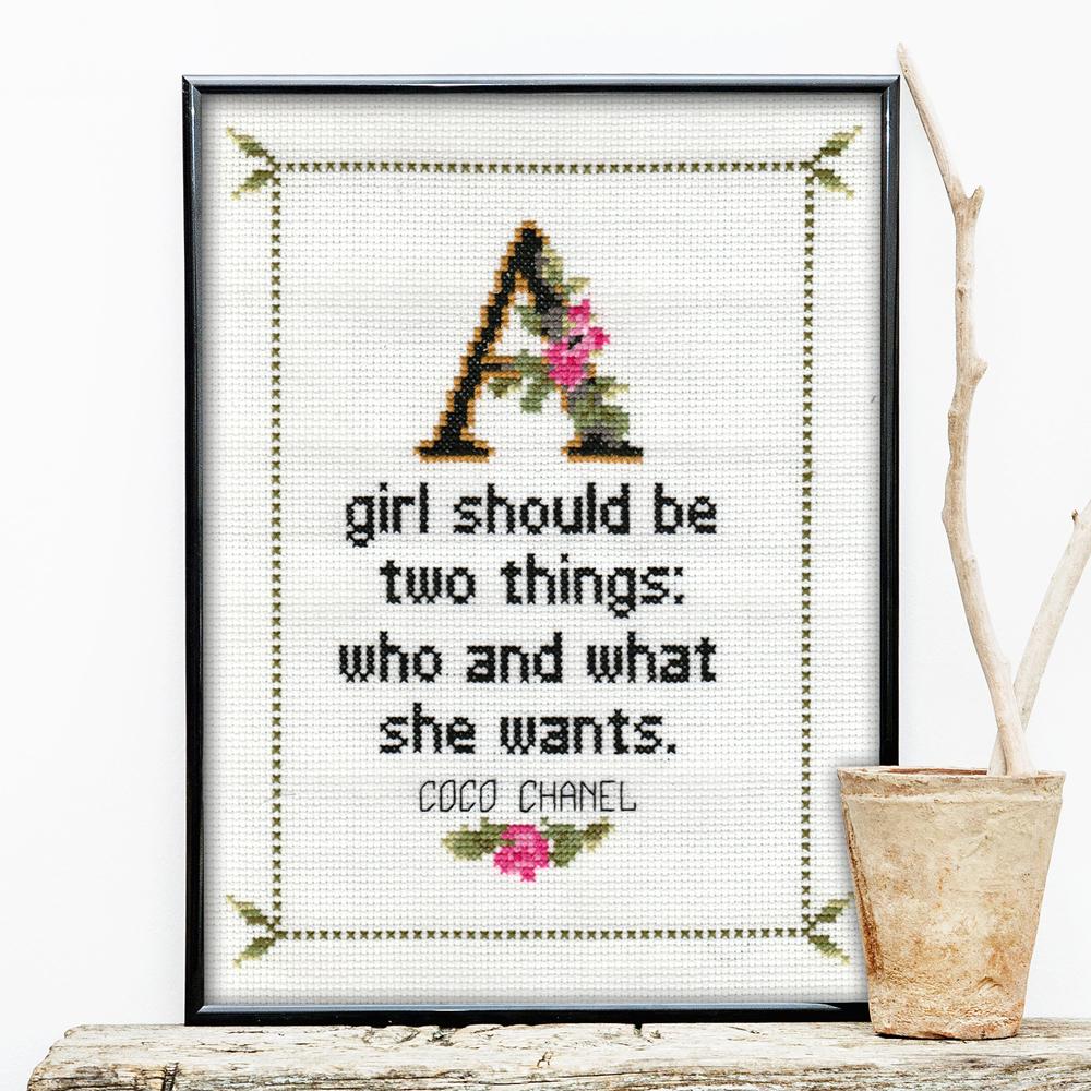 Coco Chanel Quote Cross Stitch No.1